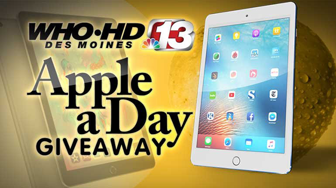 who-tv apple a day giveaway